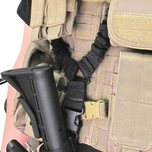 Condor Cobra Type Tactical One Point Bungee Sling - Tan