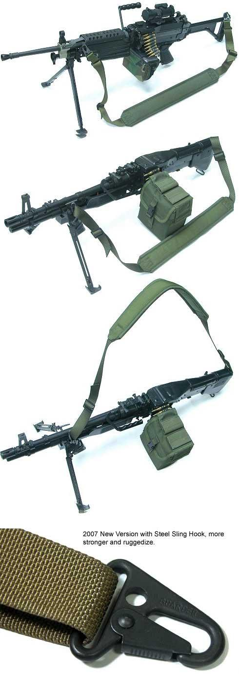 Phantom M60 / M249 Type Heavy Machine Gun Shoulder Sling - Black