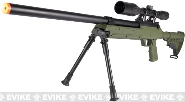 SR-2 MB06 Shadow Op Bolt Action Airsoft Sniper Rifle w/ LE Stock & Bipod - OD Green