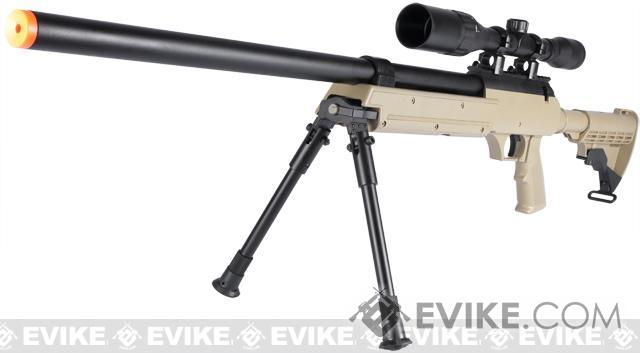 Matrix ASR SR-2 Shadow Op Bolt Action Airsoft Sniper Rifle w/ LE Stock & Bipod - Desert Tan (Rifle)