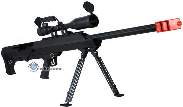 Snow Wolf New Gen. M82 Bolt Action Airsoft Long Range Sniper Rifle - Black
