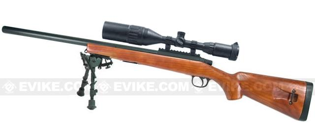 AGM MP001 M700 Airsoft Bolt Action Sniper Rifle w/ Scope Rail (Imitation Wood)