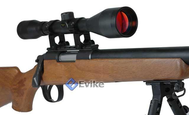 Matrix VSR-10 MB03 Bolt Action Airsoft Sniper Rifle by WELL - Black (Package: Add 3-9x40 Scope)