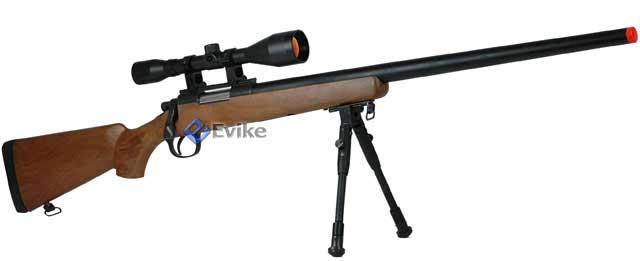 Bone Yard - Bravo / WELL M700 Type Sniper Rifle (Black, Tan, OD Or Wood Finish) (Store Display, Non-Working Or Refurbished Models)
