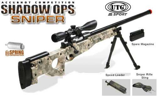 UTG Shadow Op High Power Type 96 Maruzen System Airsoft Sniper Rifle - ACU (Package: Rifle)