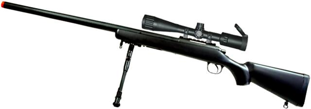 Matrix VSR-10 MB03 Bolt Action Airsoft Sniper Rifle by WELL - Black