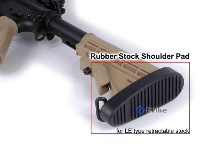 AIM Sports Real Shooter Rubber Stock Shoulder Pad for M4 / CAR-16 LE Stock.