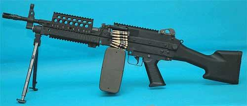 G&P MK46 Fix Stock For M249 & MK46 Series Airsoft AEG