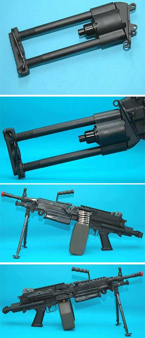 Para-Trooper Retractable Stock for A&K Classic Army and G&P M249 series AEG