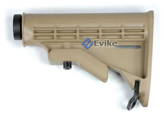 Matrix M4 Retractable LE Stock w/ Metal Tube for M4 Series Airsoft AEG (Tan)
