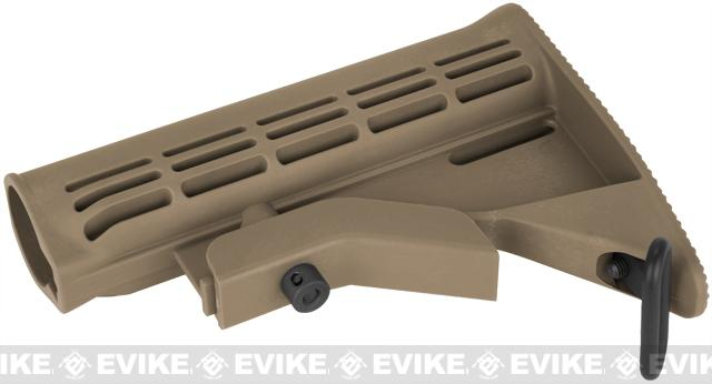 G&P Reinforced Retractable LE Stock for M4 M16 AR-15 Airsoft AEG & GBB - Dark Earth