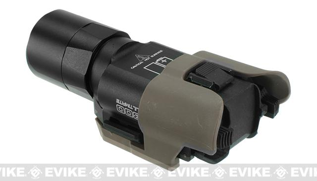 FMA Polymer Frame Rail Kit for Surefire X300 Series Flashlights - Dark Earth