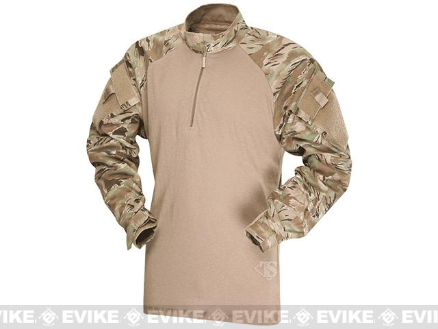 Tru-Spec Tactical Response Uniform 1/4 Zip Combat Shirt - All-Terrain Tiger Stripe (Size: Large)