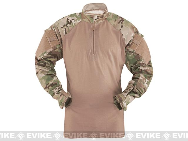 Tru-Spec Tactical Response Uniform 1/4 Zip Combat Shirt - Multicam (Size: Large)