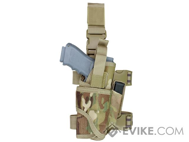 Condor Tornado Universal Tactical Thigh / Drop Leg Holster - Multicam (Hand: Right)