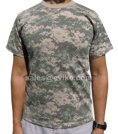 Mens ACU Digital Poly Cotton Camouflage T-Shirt (Size: Large)