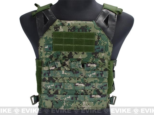 Avengers Compact Operator Airsoft High Speed JPC Plate Carrier - Digital Woodland