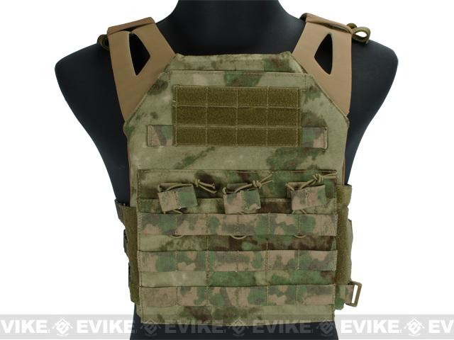 Avengers Compact Operator Airsoft High Speed JPC Plate Carrier - Woodland Arid