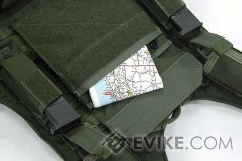 Matrix Tactical Admin / Map Hook and Loop MOLLE Pouch - OD Green