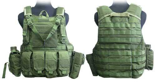 Phantom CORDURA 1000 Denier Force Recon Tactical Vest Full Set (OD Green / XL)