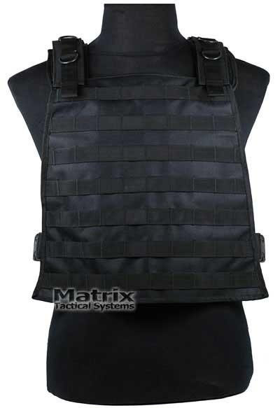 Matrix Tactical Systems MOLLE Ready LBV (Load Bearing Vest) w/ Hydration Carrier (Black)