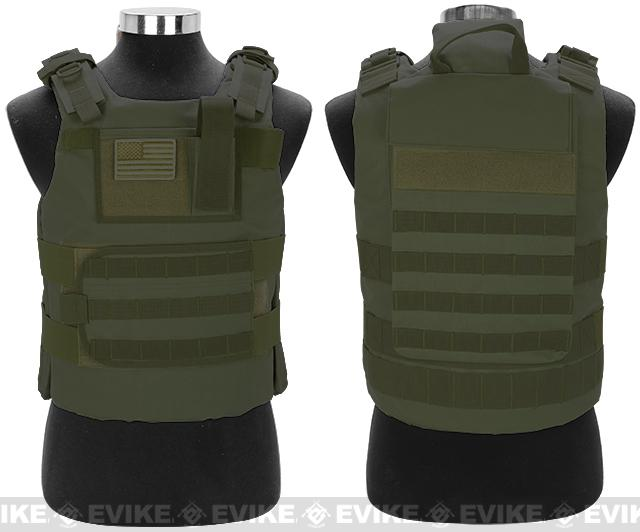 Matrix Tactical Systems Navy Seal Light Fighter Tactical PT Body Armor - OD Green