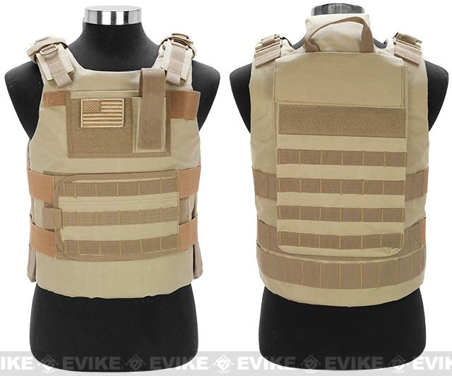 Matrix Tactical Systems Navy Seal Light Fighter Tactical PT Body Armor - Desert Tan
