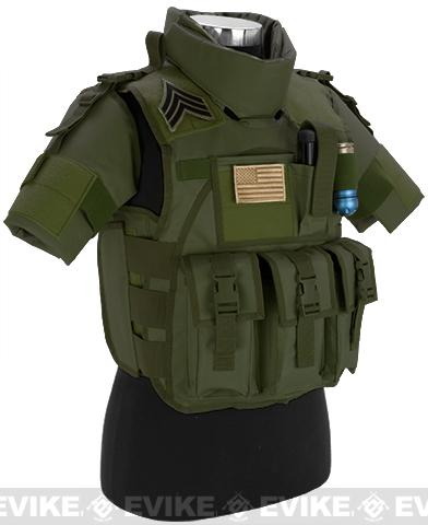 Matrix S.D.E.U. Ultra Light Weight Airsoft Tactical Vest - (OD Green)