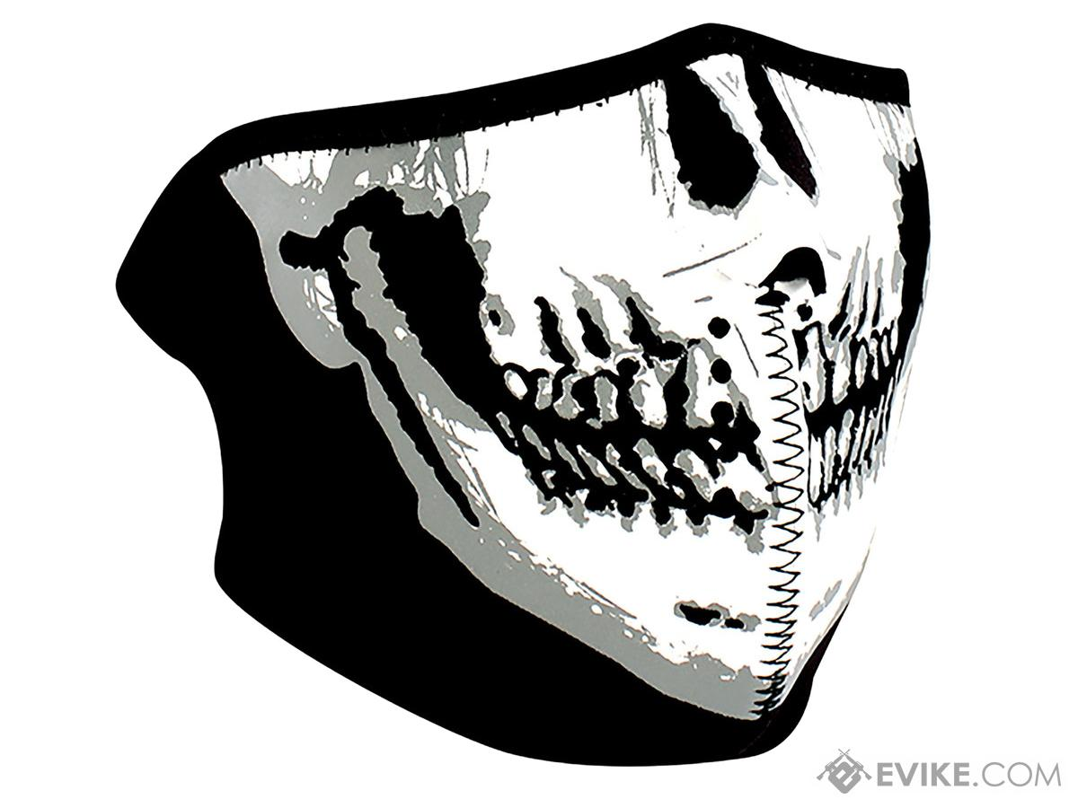 Tactical Ghost Neoprene 1/2 Face Mask (Color: Skull Face)
