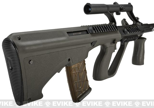 JG AUG Military Lipo Ready Airsoft AEG Rifle w/ Integrated Scope - OD