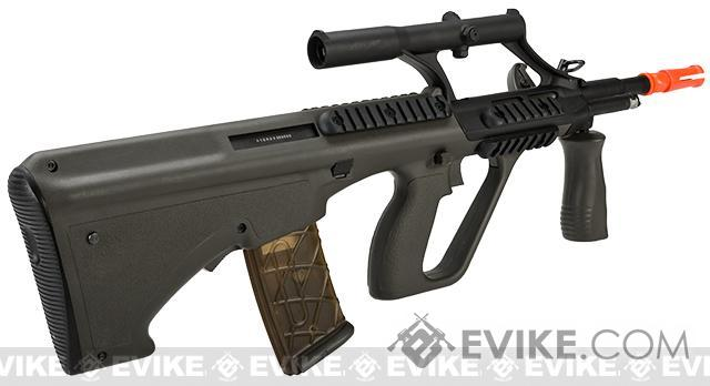 AUG MIL CQB Length Airsoft AEG Rifle w/ Integrated Scope by JG - OD