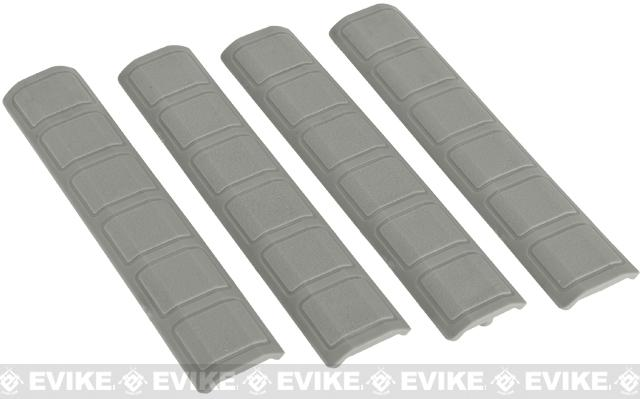 Avengers Rubber 6.25 Keymod Rail Covers (Square Pattern) - Set of 4 (Color: Foliage Green)