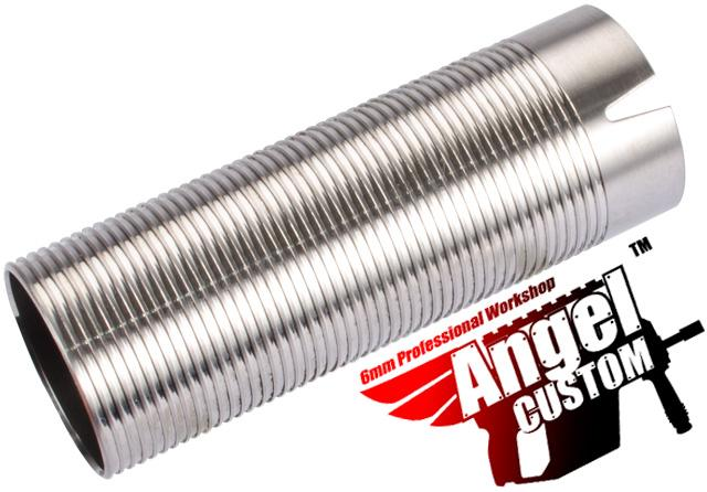 Angel Custom CNC Advanced Stainless Ribbed Airsoft AEG Cylinder - 370mm-410mm