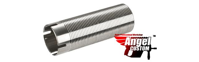 Angel Custom CNC Advanced Stainless Ribbed Airsoft AEG Cylinder - 410mm-470mm