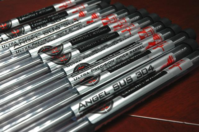 Angel Custom G2 SUS304 Stainless Steel 6.01mm Airsoft Tightbore Inner Barrel (250mm / WE GBB G39C)