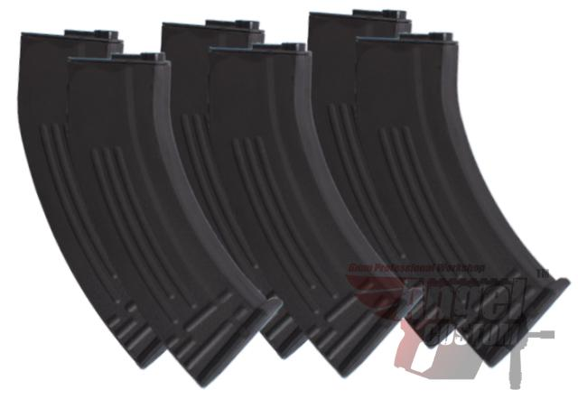 Angel Custom SR-47 Type 170rd Mid-Cap Magazine for M4 M16 Series Airsoft AEG - Set of 6