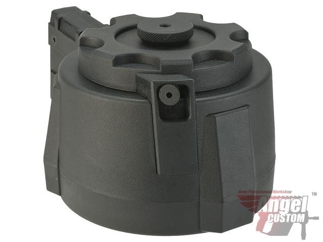 (AIRSOFTCON EPIC DEAL) Angel Custom 1500 Round Firestorm Drum Flashmag for M4 / M16 Series Airsoft AEG