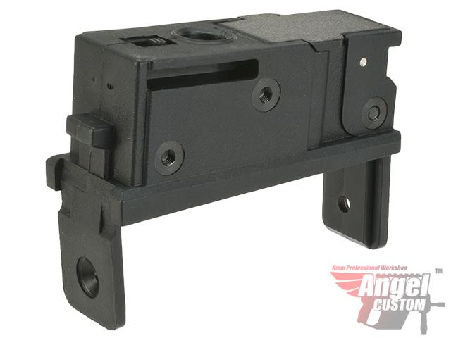 Angel Custom Magazine Adapter for Firestorm / Thundestorm Airsoft AEG Drum Magazines (Version: AK / Black)