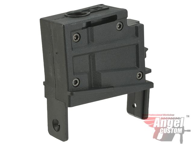 Angel Custom Magazine Adapter for Firestorm / Thundestorm Airsoft AEG Drum Magazines (Version: G36 / Black)