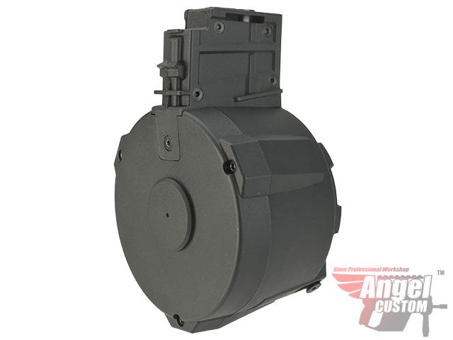 Angel Custom 1500 Round Firestorm Airsoft AEG Drum Flashmag Package