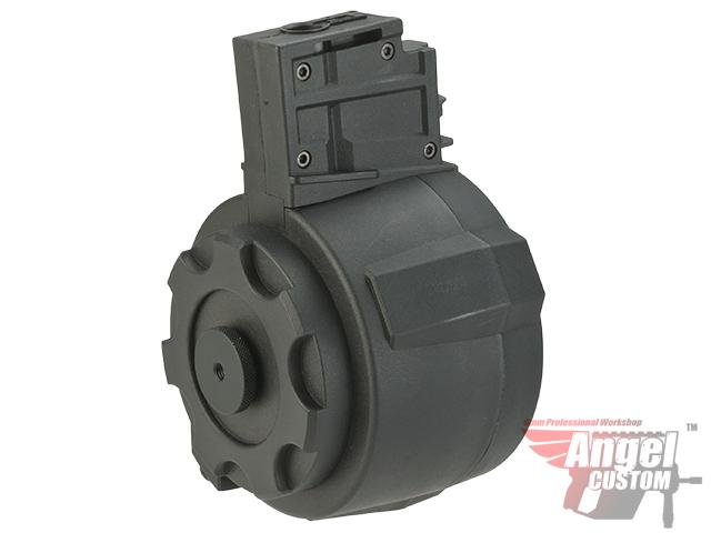 Angel Custom 1500 Round Firestorm Drum Flashmag for G36 Series Airsoft AEG