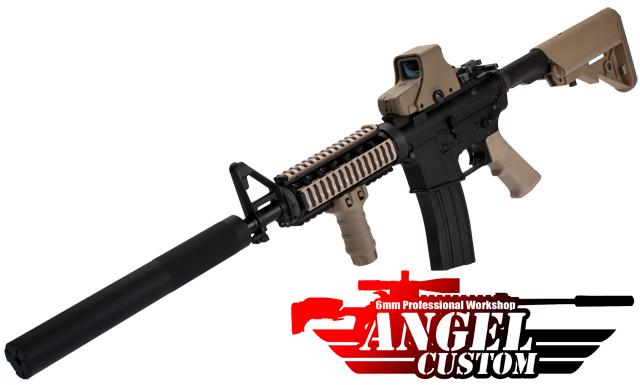 Angel Custom Bio-Hazard 320mm CNC Aluminum 14mm Airsoft Mock Silencer - Infidel