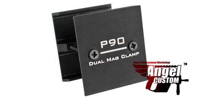 Angel Custom Aluminum P90 Dual / Double Magazine Clamp