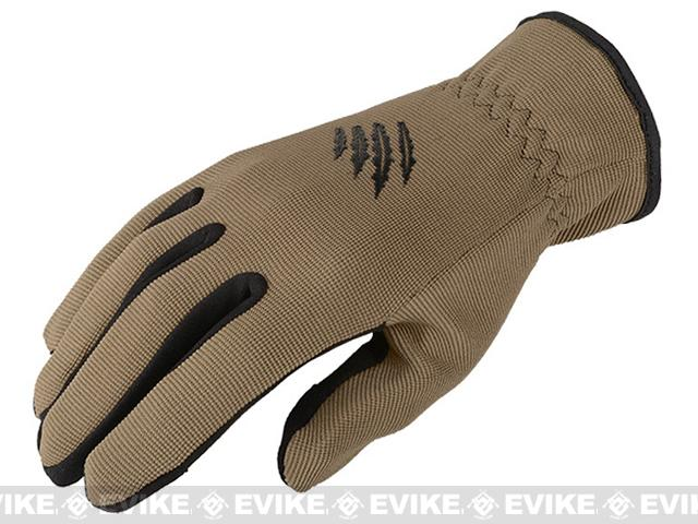 Armored Claw Quick Release Tactical Glove - Tan (Size: Large)