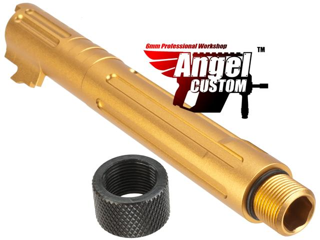 Angel Custom Goliath Outer Barrel for WE Tokyo Marui KJW 5.1 Hi-Capa Series Airsoft GBB Pistols - Gold