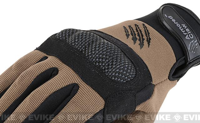 Armored Claw Shield Tactical Glove - Tan (Size: Large)