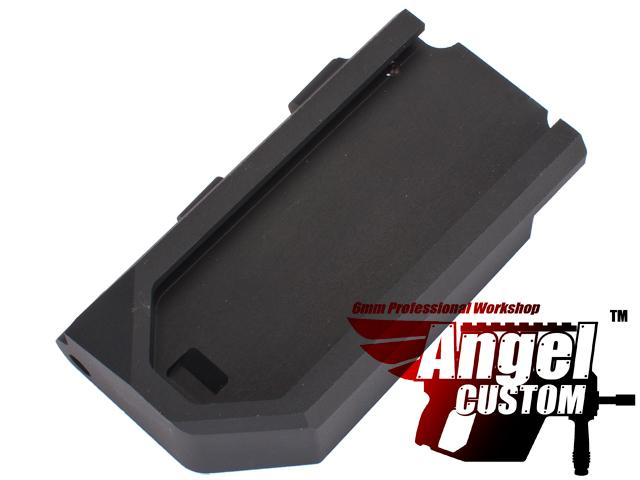 Angel Custom CNC Aluminum Reinforced WE SCAR Hinge Plate - Black