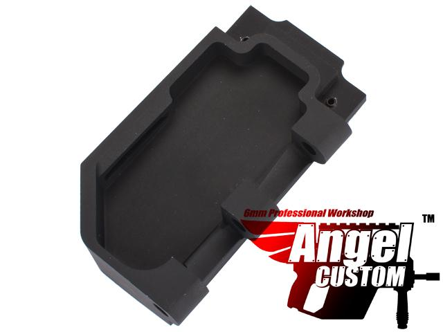 Angel Custom CNC Aluminum Reinforced WE SCAR Hinge Plate (Color: Black)