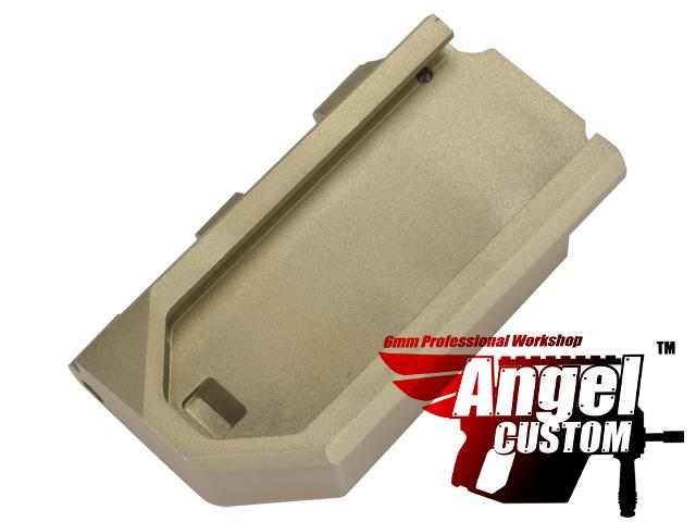 Angel Custom CNC Aluminum Reinforced WE SCAR Hinge Plate (Color: Dark Earth)