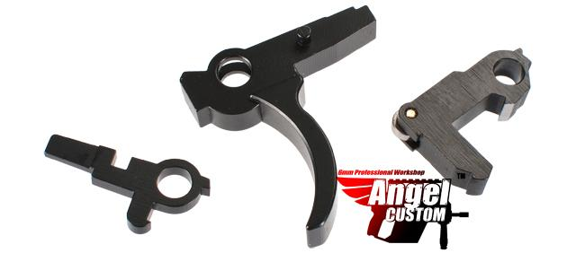 Angel Custom Advanced CNC Steel Trigger Saer Hammer Set for WE G39 Series Airsoft GBB Rifles